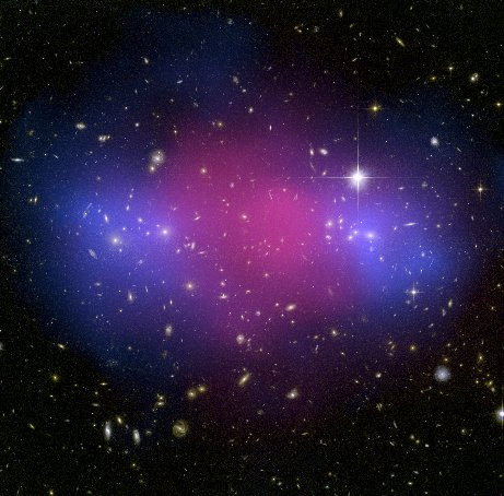 Hubble and Chandra Composite of the Galaxy Cluster MACS J0025.4-1222.