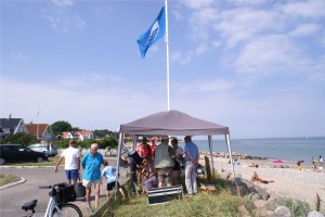 Blåt flag på stranden ved Gilleleje. Foto: Michael Quaade