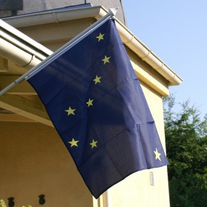 Wieth-Knudsen Observatoriets flag, Alaskas delstatsflag. Foto: Michael Quaade.