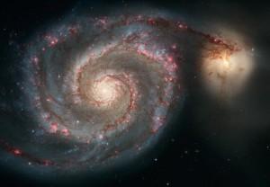 Spiralgalaksen Messier 51 i stjernebilledet Jagthundene. Den står nær Karlsvognens halespids.