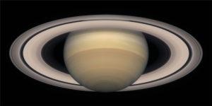 I disse år ses Saturns ringe i nogenlunde samme vinkel som på dette billede, der er optaget med Hubble rumteleskopet i oktober 2000. Foto: NASA and The Hubble Heritage Team (STScI/AURA).