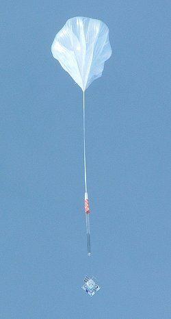 Ballon-opsendelse af eksperiment