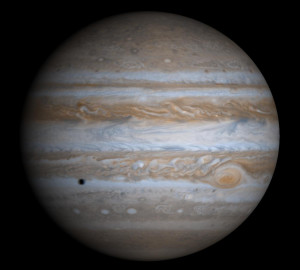 Planeten Jupiter optaget fra CAssini rumsonden 7. decemner 2000. Foto: NASA/JPL/Space Science Institute