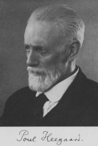 Poul Heegaard (1871-1948) var Astronomisk Selskabs første formand.