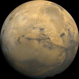 Mars optaget fra Viking 1 rumsonden 22. februar 1980. Foto: NASA