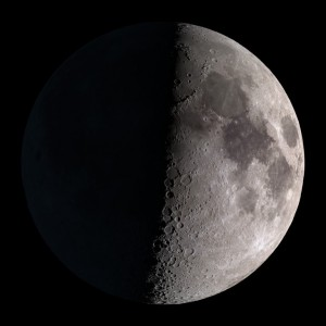 Moon Phase on October 8 from the Northern Hemisphere